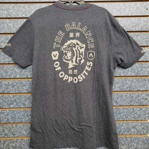 RVCA Siam Short Sleeve Gray T-Shirt Men's Sz S